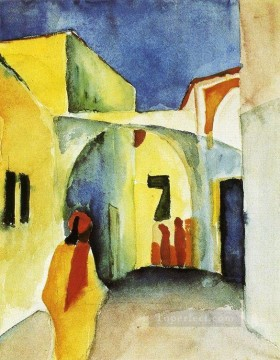Abstract and Decorative Painting - View of an Alley Expressionism
