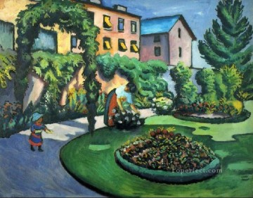 A Garden Expressionism Oil Paintings