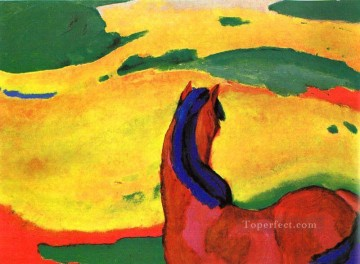 Famous Abstract Painting - Marc horse in a landscape Expressionism