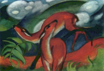 Abstract and Decorative Painting - Rote Rehe II Expressionist