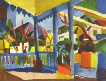 Abstract and Decorative Painting - Terrace Of The Country House In St Germain Expressionist