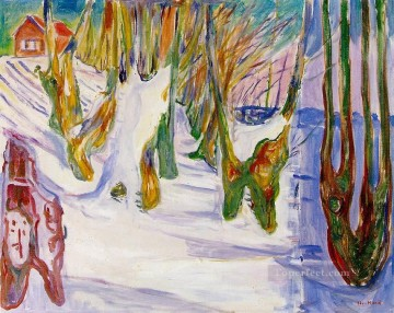 Artworks in 150 Subjects Painting - old trees 1925 Edvard Munch Expressionism
