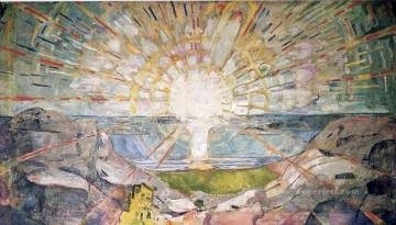 Artworks in 150 Subjects Painting - the sun 1916 Edvard Munch Expressionism