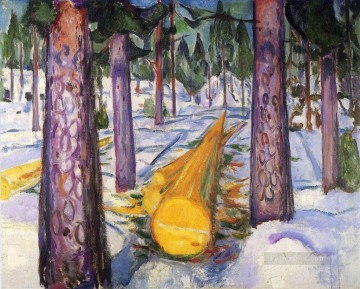 Artworks in 150 Subjects Painting - the yellow log 1912 Edvard Munch Expressionism