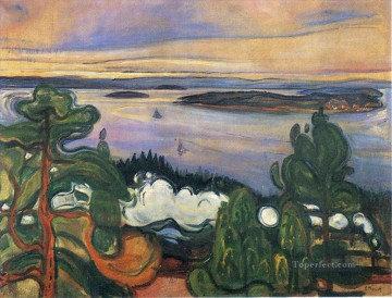 Expressionism Painting - train smoke 1900 Edvard Munch Expressionism