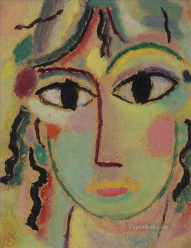 Artworks in 150 Subjects Painting - Girl head Alexej von Jawlensky Expressionism