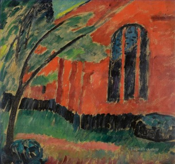 row - KIRCHE IM PREROW CHURCH IN PREROW Alexej von Jawlensky Expressionism
