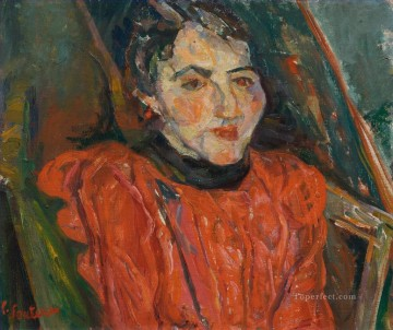 Artworks in 150 Subjects Painting - PINK PORTRAIT OF MADAME X Chaim Soutine Expressionism