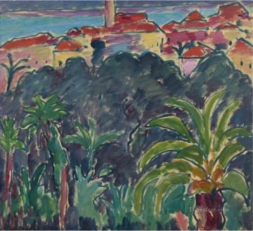 Artworks in 150 Subjects Painting - SOUTHERN LANDSCAPE BORDIGHERA Alexej von Jawlensky Expressionism