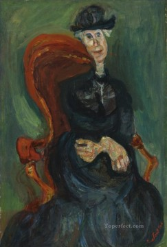 Expressionism Painting - THE OLD LADY SIT Chaim Soutine Expressionism