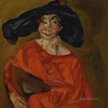 Expressionism Painting - THE WOMAN IN RED Chaim Soutine Expressionism