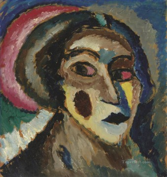 The Greek woman Alexej von Jawlensky Expressionism Oil Paintings