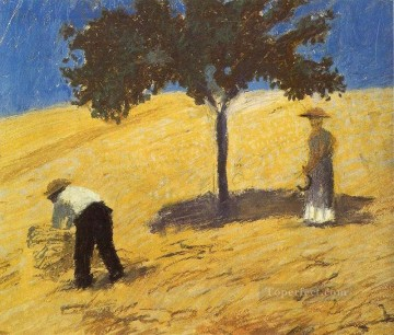 Expressionist Painting - Tree In The Grain Field Expressionist
