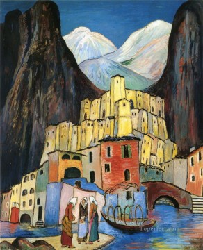 cityscape Marianne von Werefkin Expressionism Oil Paintings