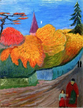 Artworks in 150 Subjects Painting - landscape Marianne von Werefkin Expressionism