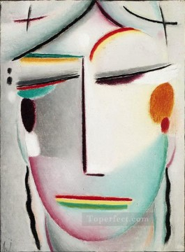 Artworks in 150 Subjects Painting - saviour s face distant king buddha ii 1921 Alexej von Jawlensky Expressionism