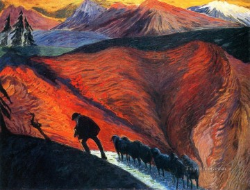 Artworks in 150 Subjects Painting - shepherd Marianne von Werefkin Expressionism