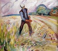 the haymaker 1916 Edvard Munch Expressionism