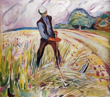 the haymaker 1916 Edvard Munch Expressionism Oil Paintings