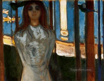 Expressionism Painting - the voice summer night 1896 Edvard Munch Expressionism