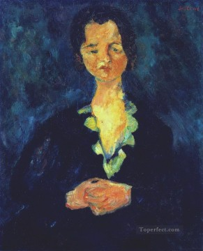 Expressionism Painting - woman in blue Chaim Soutine Expressionism
