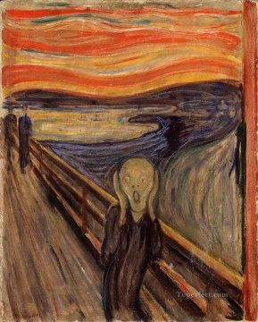 Expressionism Painting - The Scream by Edvard Munch 1893 oil Expressionism