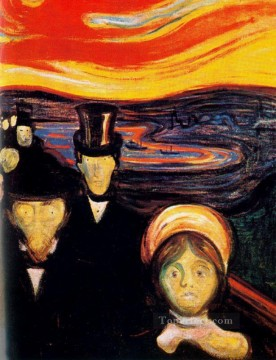 Artworks in 150 Subjects Painting - anxiety 1894 Edvard Munch Expressionism