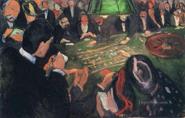 by the roulette 1892 Edvard Munch Expressionism Oil Paintings
