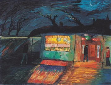 Expressionism Painting - cafe at night Marianne von Werefkin Expressionism