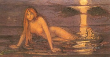 Artworks in 150 Subjects Painting - edvard munch lady from the sea Edvard Munch Expressionism