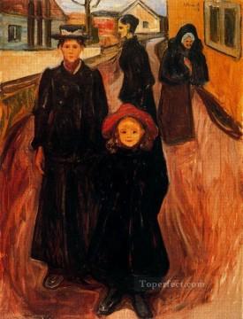 Expressionism Painting - four ages in life 1902 Edvard Munch Expressionism