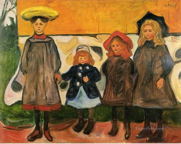 Artworks in 150 Subjects Painting - four girls in arsgardstrand 1903 Edvard Munch Expressionism