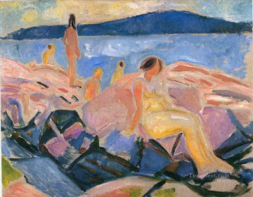 Artworks in 150 Subjects Painting - high summer ii 1915 Edvard Munch Expressionism