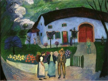 Artworks in 150 Subjects Painting - house Marianne von Werefkin Expressionism