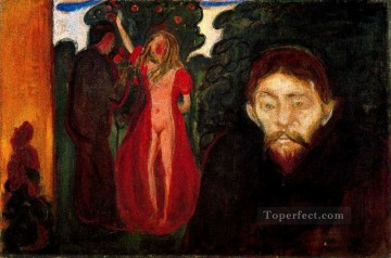 Artworks in 150 Subjects Painting - jealousy 1895 Edvard Munch Expressionism