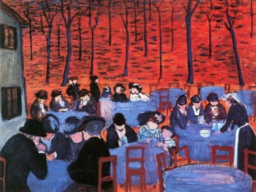 Artworks in 150 Subjects Painting - restaurant Marianne von Werefkin Expressionism