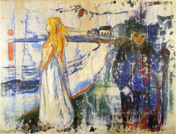 Artworks in 150 Subjects Painting - separation 1894 Edvard Munch Expressionism
