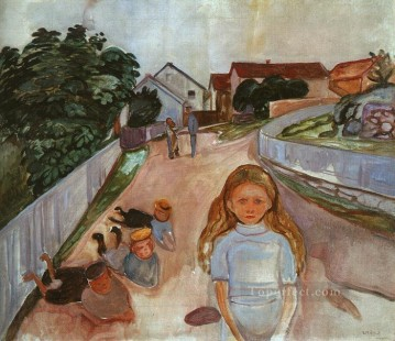 street in asgardstrand 1902 Edvard Munch Expressionism Oil Paintings