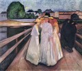 the ladies on the bridge 1903 Edvard Munch Expressionism
