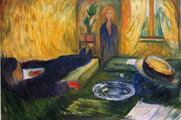 Expressionism Painting - the murderess 1906 Edvard Munch Expressionism