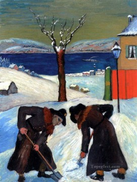 Artworks in 150 Subjects Painting - winter Marianne von Werefkin Expressionism