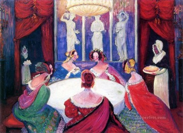 Artworks in 150 Subjects Painting - dinner Marianne von Werefkin Expressionism