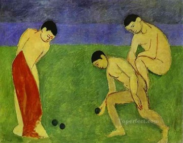 A Game of Bowls Fauvism Oil Paintings
