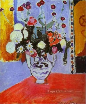 Bouquet Vase with Two Handles Fauvism Oil Paintings
