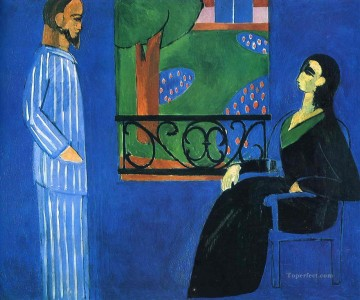 Conversation Fauvism Oil Paintings