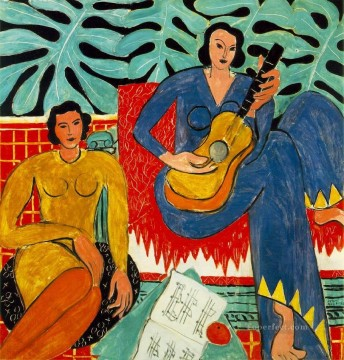 La Musique 19392 Fauvism Oil Paintings