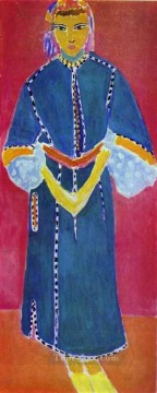 Moroccan Woman Zorah Standing Central panel of a triptych Fauvism Oil Paintings