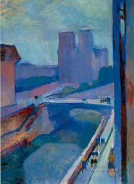 Fauvism Works - Notre Dame une fin d apres midi A Glimpse of Notre Dame in the Late Afternoon 1902130Kb Fauvism
