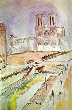 NotreDame Fauvism Oil Paintings