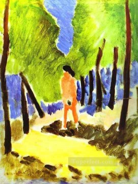 Nude in Sunlit Landscape Fauvism Oil Paintings